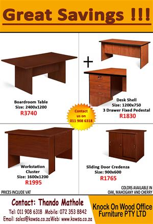 Brand New Office Furniture! Great Savings.