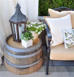Oak Wine Barrel Side Tables for sale!!