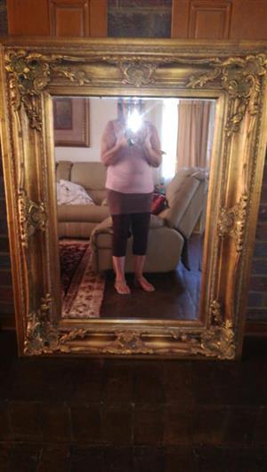 Golden framed vintage mirror for sale