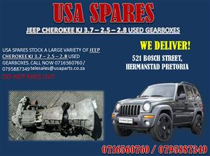 JEEP CHEROKEE KJ 2.5 – 2.8 – 3.6 USED GEARBOXES FOR SALE