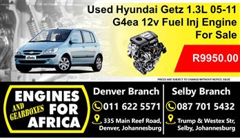 Used Hyundai Getz 1.3L G4ea 05-11 Engine For Sale