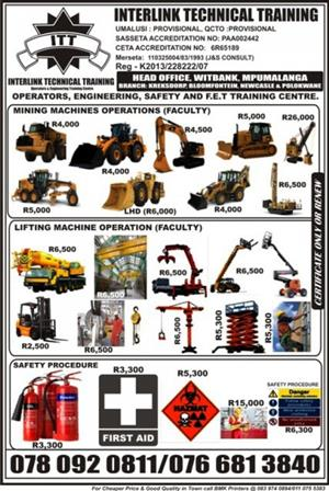 Safety, First aid, Firefighting, HIRA, OHS, Accident investigation, Fire Marshall, Supervisors