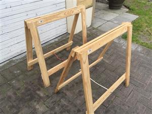 Large Solidwood wooden Trestles (Bokkies) - 1 Pair