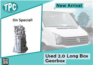 Volkswagen Crafter Used 2.0 Long Box Gearbox for sale at TPC