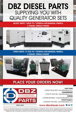 Generator sales 13KVA to 1500KVA for sale  Cape Town - Tableview