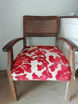 Red floral top chair for sale