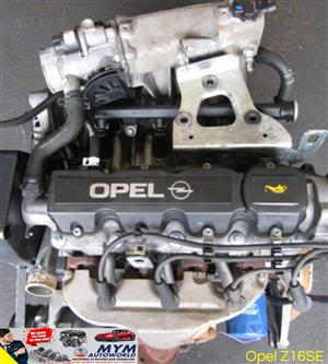 Complete Second hand used engines, Opel Z16SE, OPEL ASTRA G 1.6L 8 VALVE GAMA/BRACKET,  Alberton, Alrode, Germiston, Vereeniging, Van de Bijl, Soweto, Johannesburg, Gauteng, South Rand