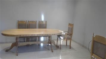 13 Piece solid oak Dining room Suite