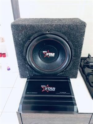 Starsound subwoofer & amplifier