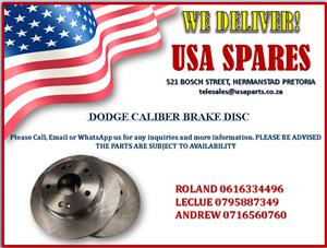 DODGE CALIBER BRAKE DISC