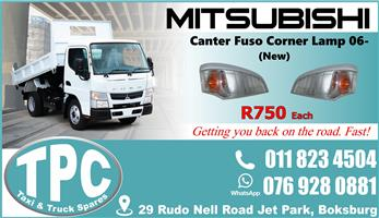 Mitsubishi Canter Fuso Corner Lamp 06- New - Quality Replacement Truck Body Parts.
