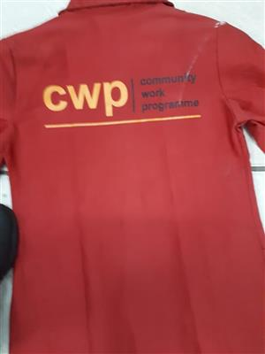 EPWP uniforms, EPWP Workwear, Community Works Programme Suits and uniforms.