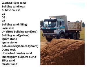 Arizona Sands - Sand, Stone & organics delivered on the East Rand, Gauteng, South Africa