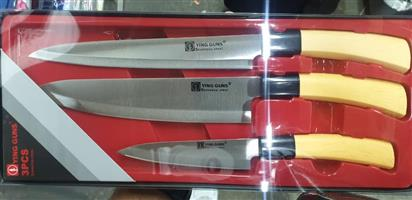 Gorgeous 3 piece and 5 piece Knife must haves for sale