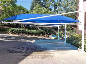 Shadeports for new installation and Repairs any type of shade netting with difference colours ,for industrial parkings shades ,car wash shades contact 0663478429