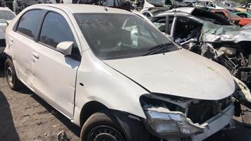 Toyota etios sedan 2015 stripping for spares