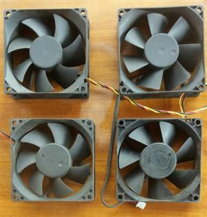 4 X 80mm computer fans. R100 for the lot.