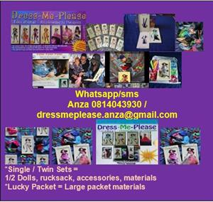 DOLLS: DRESS-ME-PLEASE DOLLS! The Educational Toy for children - Contact Anza at 081 404 3930 / dressmeplease.anza@gmail.com