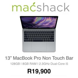 Apple MacBook Pro 13-inch 2.3GHz Dual-Core i5 (Non Touch Bar, 8GB RAM, 128GB SSD, Space Gray)