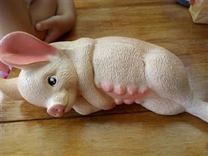 Baby piglet ceramic ornament