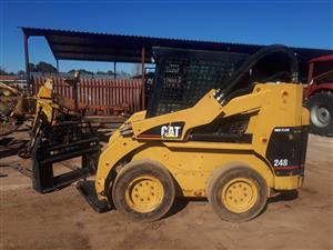 Cat 248 highflow skidsteer loader