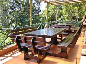 8seater square styled garden/picnic bench set
