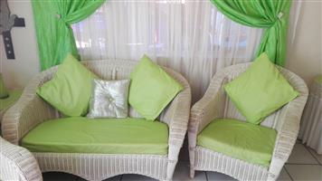 Wicker lounge suite for sale