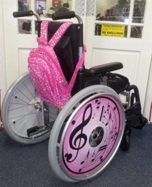 MR WHEELCHAIR- ALU KIDDIES PRINCESS WHEELCHAIR