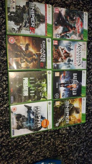 XBOX 360 GAMES FOR SALE R80 EACH