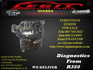 FORD FOCUS  ENGINE FOR SALE