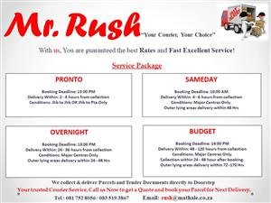 Mr. Rush Courier Service: Reliable, Safe & Fast.