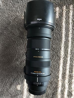 Sigma Canon mount 50-500mm
