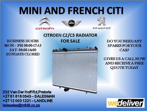 Citroen c2 radiator for sale
