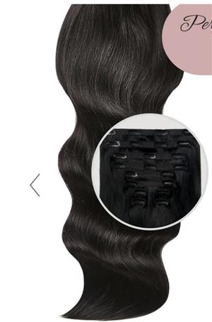 On The Edge 20inch Jet Black Clip-in Hair Extensions