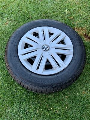 VW Rim with New Tire