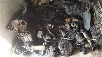 vw amarok 2011 2.0L tdi 4 motion motor stripping for spares engine code cdc