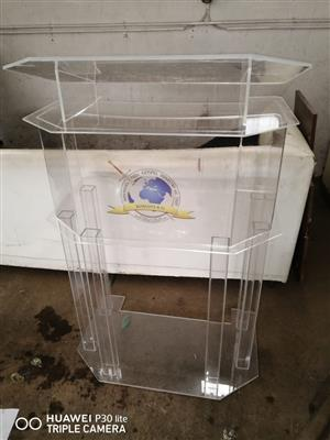 Clear Custom Pulpit