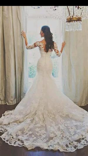 Vintage Lace  Mermaid Wedding Dress