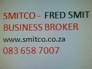 BUSINESS CONSULTANT :Let Fred Smit - SMITCO assist you with an informed desicion to buy or sell.
