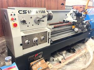 Lathe, 1500mm B/Centres, 500mm Swing, 82mm S/Bore, Brand New