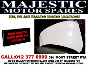 Bmw 320i used F30 boot lid for sale