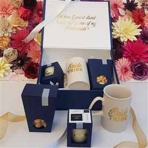Personalised Gifts , Hat boxes , Clam shell boxes , Soy candles , diffusers and more .