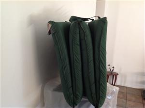 Bushtec Adventure Camping foldup mattress 4 divisions  with nylon carrybag
