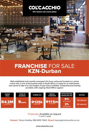Franchise for Sale - Kwa-Zulu Natal
