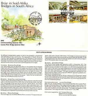 Commemorative Stamp & Envelope Set - Bridges in South Africa 1984