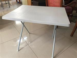 Plastic Camping/Outdoor table with removable legs - can be set to 2 heights