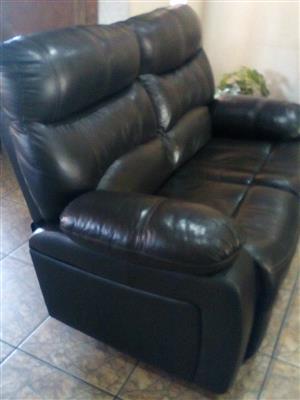 Leather upper sofas. neg
