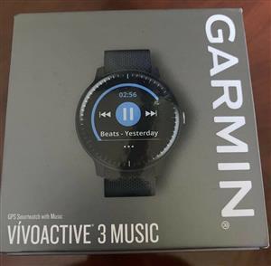 Garmin Vivoactive 3 Music GPS Smartwatch - Black