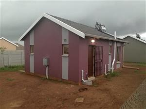 Alone standing house in a newly developed area in Sky City Alberton is available ASAP to LET