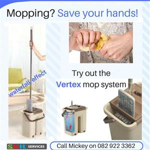 Mopping? Save your hands with the Vertex mop 4-in-1 system.